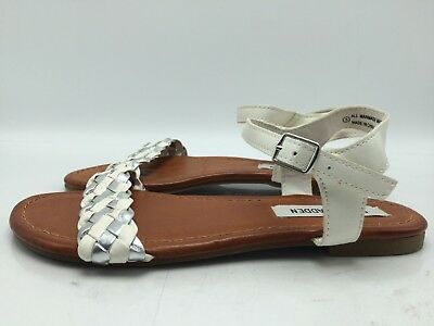 4a16be054a9 4A7 Steve Madden Margin Casual Ankle Strap Flats Sandals Girls Shoes Size 3