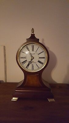 Large Antique Style Churchill Wood Case Westminster Chime Balloon Mantle Clock