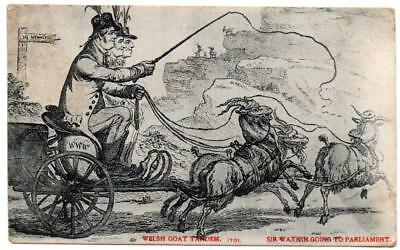 1906 SIR WATKIN WILLIAMS WYNNE On His Way to Parliament   Comic  Postcard