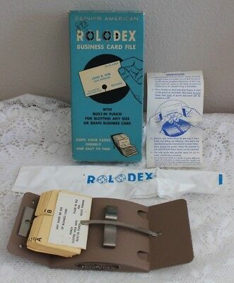 Vintage Zephyr American Rolodex Business Card File V-500 Bc Unused In Box