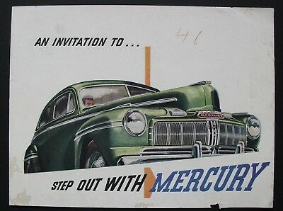 Vintage 1946 MERCURY advertising car brochure