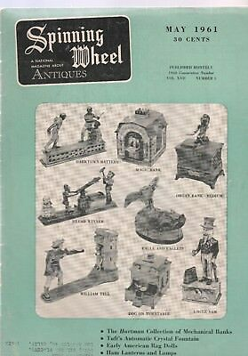 Spinning Wheel The National Magazine About Antiques 2 1961 Issues, May And Dec.