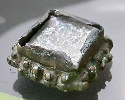 Byzantine Silver Ring Top With Wight Stone !!