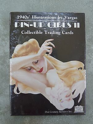 PIN-UP GIRLS II 1940s Vargas Trading Cards, 50-Card Set, 1993, FACTORY SEALED