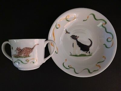 Lynn Chase KITTEN Kapers MUG BOWL & PLATE cute as can be!