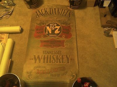 Jack Daniels Old New Stock Full Size Green  Poster From 70's / 80's