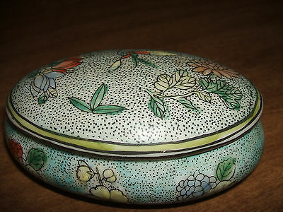 Antique chinese trinket box with mark