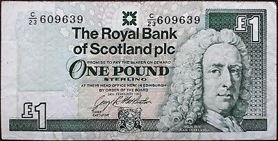 Scotland banknote - 1 pound sterling - 1993 - Lord Ilay - Clydesdale Bank PLC
