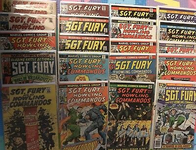 20 SGT. Fury And His Howling Commandos Comic Lot Vintage 60s And 70s AWESOME ***