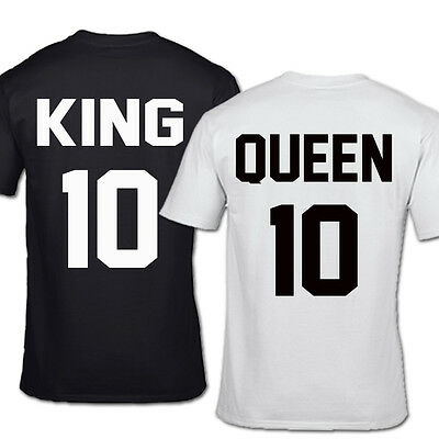 King 10 And Queen 10 Tshirt His & Hers Marriage Couples Boyfriend Girlfriend