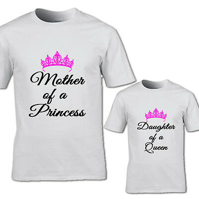 New Design Mother Of A Princess And Daughter Queen Tshirt Fathers Day Princess