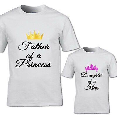 New Design Father Of A Princess And Daughter King Tshirt Fathers Day Princess