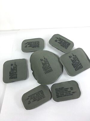 "ACH Helmet Pads Seven 7 Piece 3/4"" Green Grey One Army Marines Military RFI CIF"
