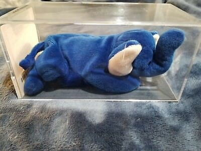 TY BEANIE BABY--PEANUT the Royal Blue Elephant.... MWMT Rare ... fc293242728