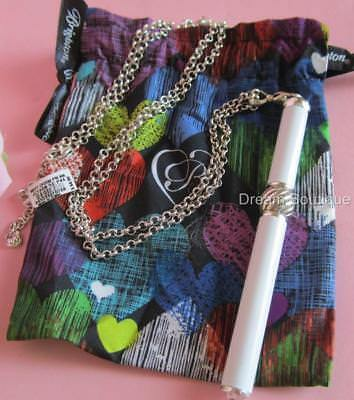 NWT Brighton PEN PAL CHARM Necklace WHITE Interchangeable Beads MSRP $64