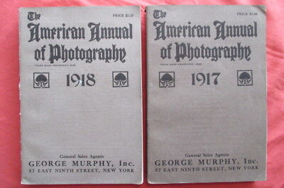 1917 & 1918 The American Annual of Photography - George Murphy, Inc. New York