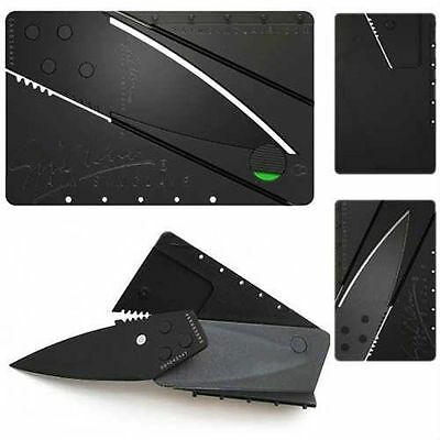 1PC Outdoor Cardsharp Credit Card Folding Razor Sharp Wallet Knife Survival Tool
