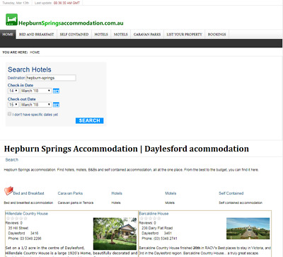 HepburnSpringsAccommodation.com.au domain for sale