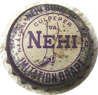"Nehi Grape ""Lady Leg"" - Cork Lined Bottle Cap - Used - Culpeper VA"