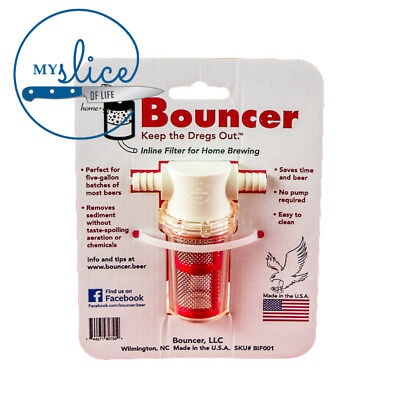 Bouncer Classic Inline Beer Brewing Filter - Home Brew / Fermenter