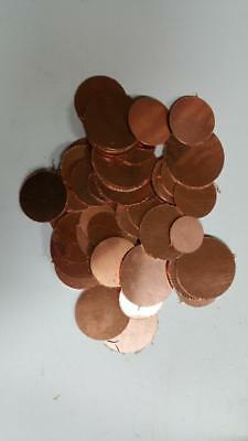 Copper Circles Various Thicknesses And Diameters 5 Pound Box