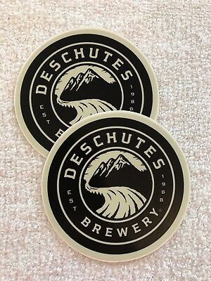 Lot Of 2 Deschutes Brewery Circle Stickers Craft Beer