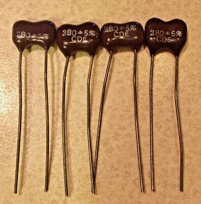 4-PCS  Silver Mica  Cornell Dubilier  Capacitors YOU CHOOSE THE VALUE
