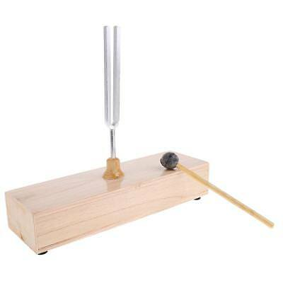256HZ Tuning Fork with Wooden Resonant Box Musical Instrument Acoustic Study