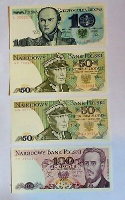 4 Banknotes from Poland UNC!!!!!!!!!!!!!
