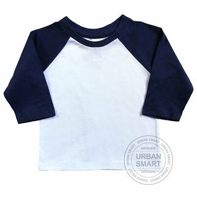 """Urban Smart"" Toddler & Baby Baseball shirt - Children Raglan Blank"