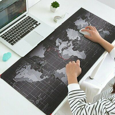 Large XL Size Anti-Slip World Map Speed Game Mouse Pad Gaming Mat For Laptop PC