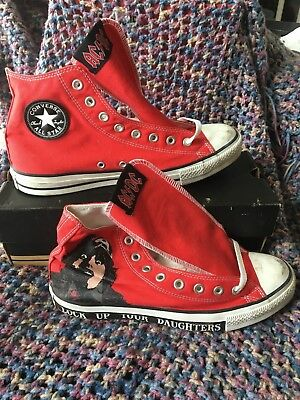 CONVERSE CHUCK TAYLOR ALL STAR AC/DC Lock Up Your Daughters ACDC sz10 NEW Hi Top