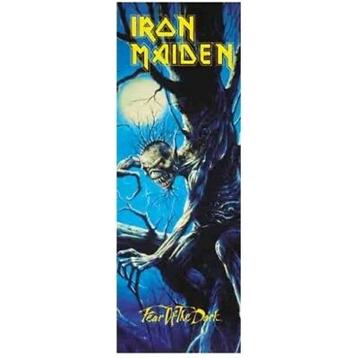 Iron Maiden Fear Of The Dark Fabric Door Poster Flag Cloth Textile Wall Banner