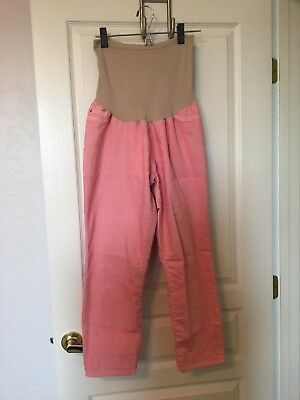 Motherhood maternity women size xl coral pants, ankle length preowned