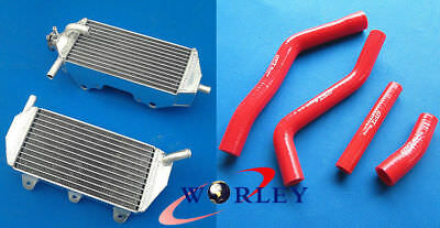 Aluminum Radiator & Silicone Hose for YAMAHA YZF450 YZ450F 2010-2013 11 12 RED
