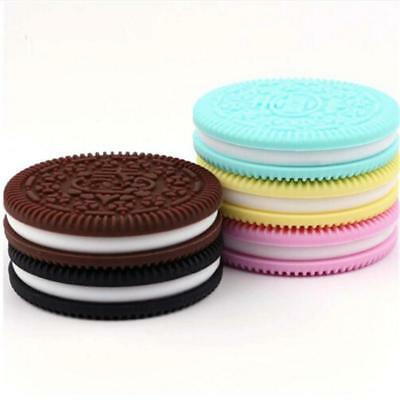 Silicone Cute Baby Biscuits Teether Molars Toys Simulation Oreos Cookies FW