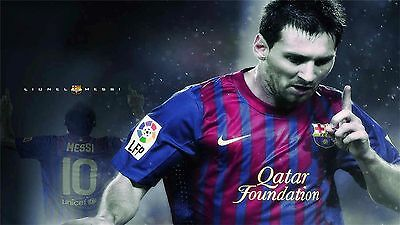 """Lionel Messi - Barcelona Football Soccer Top Player 24"""" x 13""""  Poster 053"""