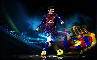 """Lionel Messi - Barcelona Football Soccer Top Player 38"""" x 24""""  Poster 037"""