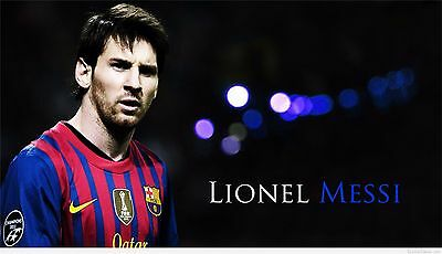 """Lionel Messi - Barcelona Football Soccer Top Player 42"""" x 24""""  Poster 032"""