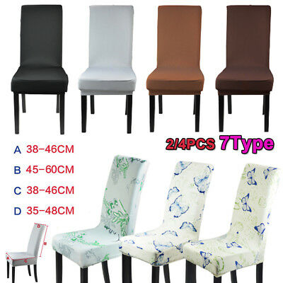 2/4 Stretch Dining Chair Cover Washable Removable Slipcover Dinning Seat Cover