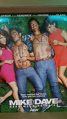 MIKE AND DAVE NEED WEDDING DATES Original Movie Poster 27x40 2-Sided Authentic
