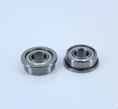 MF105ZZ 5x10x4mm (50 PCS) Miniature Metal Bearing Flanged Ball Bearing