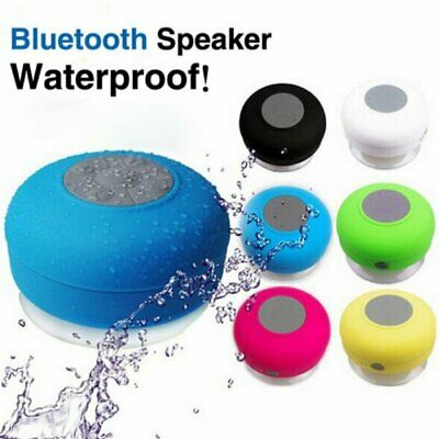 Waterproof Bluetooth Wireless Speaker Handsfree Music Mic Suction Car Shower
