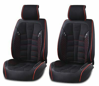 PU Leather & Fabric Black Front Seat Covers Cushion For Porsche Panamera Cayenne