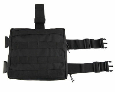 Black MOLLE Army Military Tactical Drop Leg Utility Pouch Bag & Belt Attachment