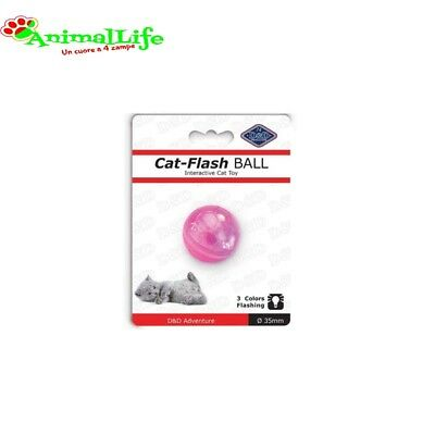 GIOCO per GATTI PALLINA LUMINOSA A LED CAT FLASH BALL di Ebi