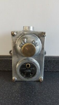 Vintage Flame Proof Cast Iron Light Switch Salvage Reclaimed Industrial Lighting