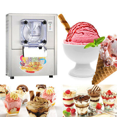 110V 1-Flavor Commercial Frozen Hard Ice Cream Machine Maker 20L/H LCD display