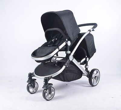 Baby Girls Black Boys Silver Pushchair 3in1 Travel System Pram Car seat Carrycot