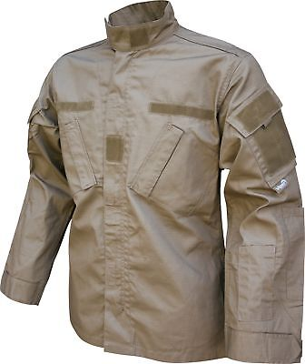 Viper Tactical Combat Shirt Ripstop Military Army ID Panels Coyote Large